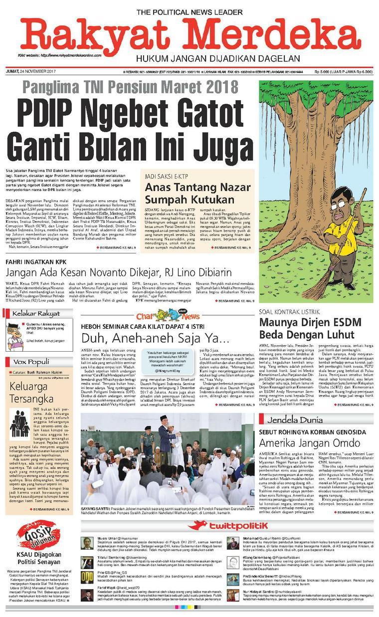 Koran Digital Rakyat Merdeka 24 November 2017
