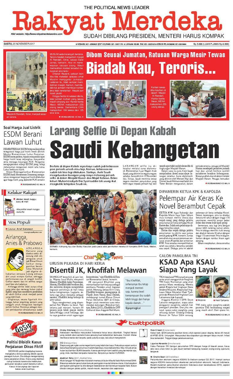 Koran Digital Rakyat Merdeka 25 November 2017