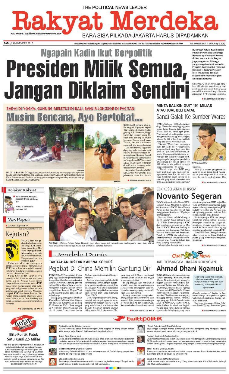 Koran Digital Rakyat Merdeka 29 November 2017