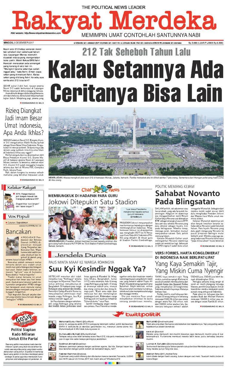 Koran Digital Rakyat Merdeka 03 Desember 2017
