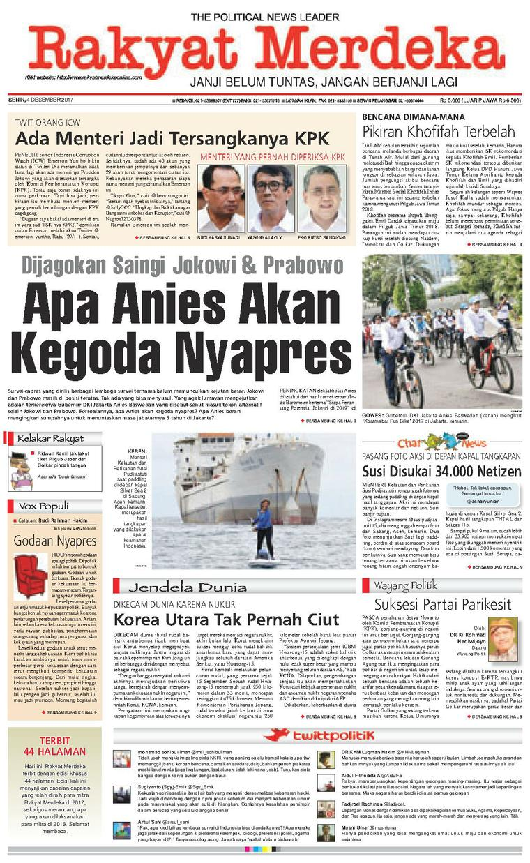 Koran Digital Rakyat Merdeka 04 Desember 2017