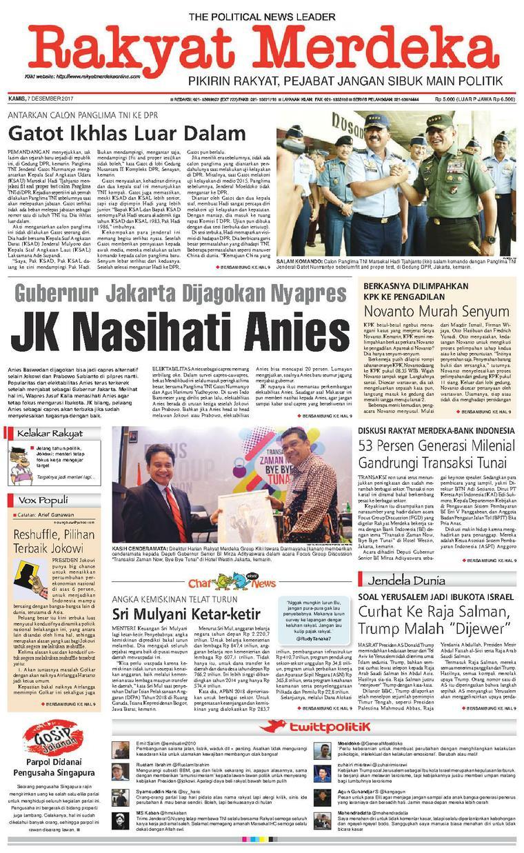 Koran Digital Rakyat Merdeka 07 Desember 2017