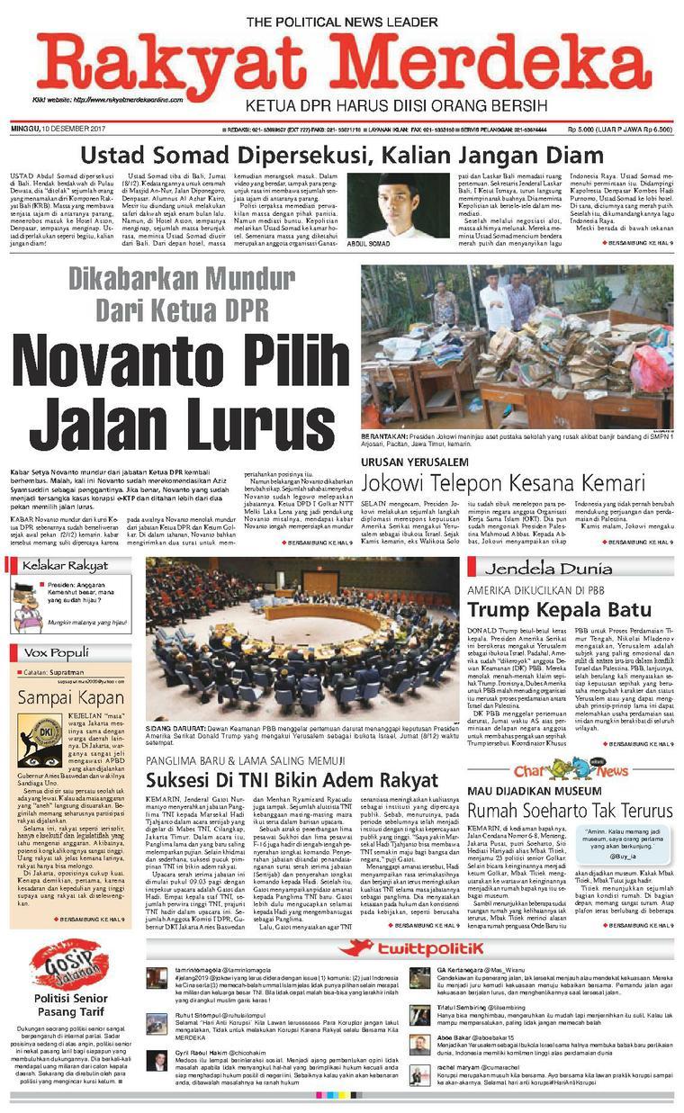 Koran Digital Rakyat Merdeka 10 Desember 2017
