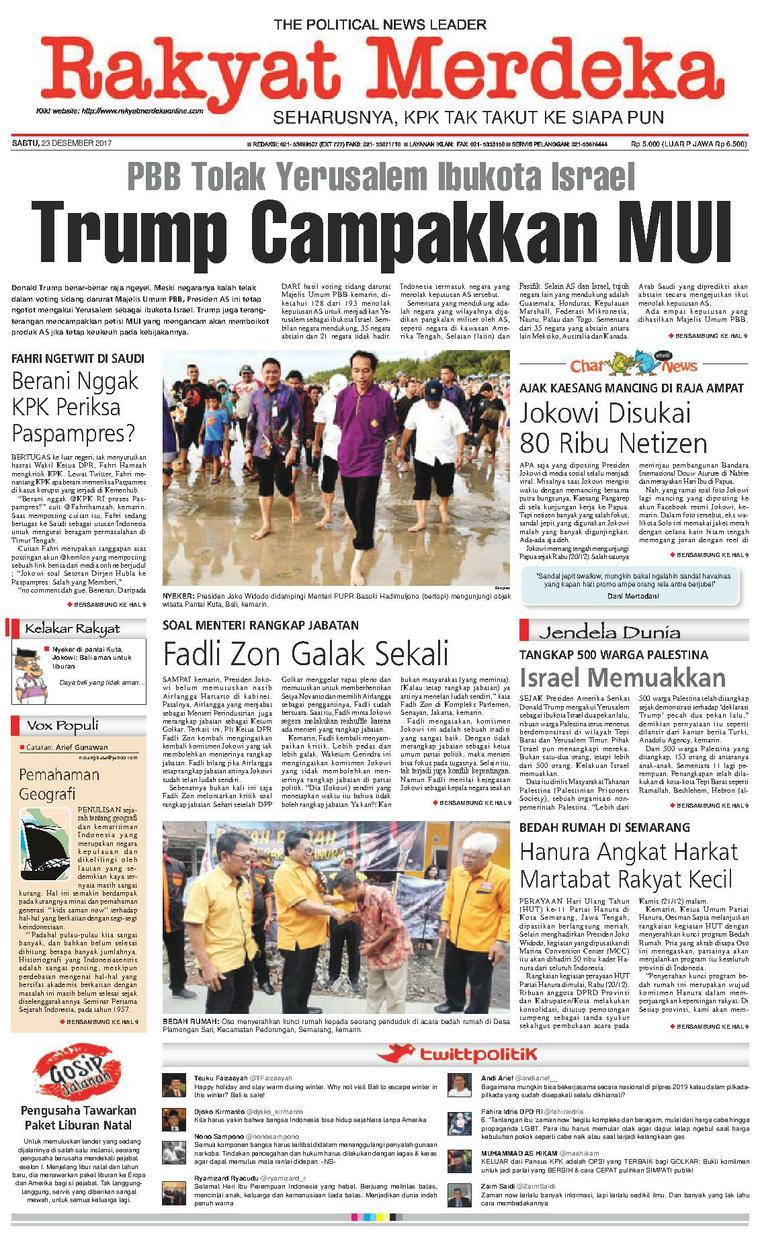Koran Digital Rakyat Merdeka 23 Desember 2017