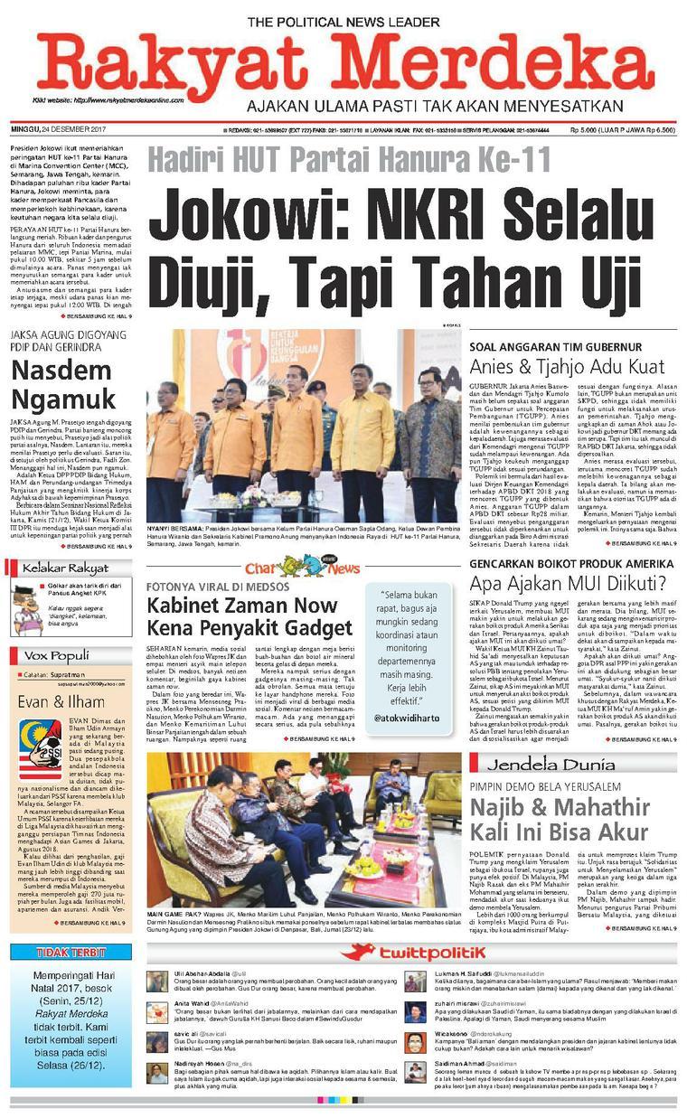 Koran Digital Rakyat Merdeka 24 Desember 2017