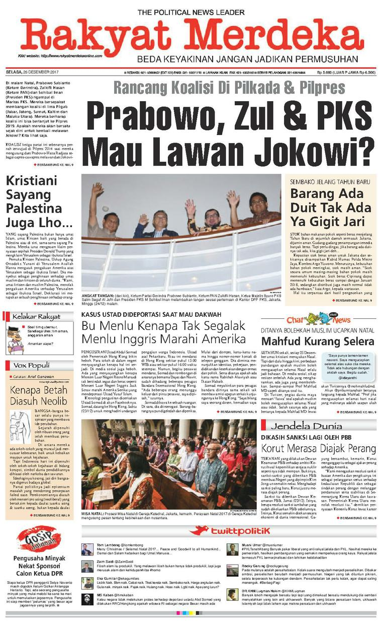 Koran Digital Rakyat Merdeka 26 Desember 2017