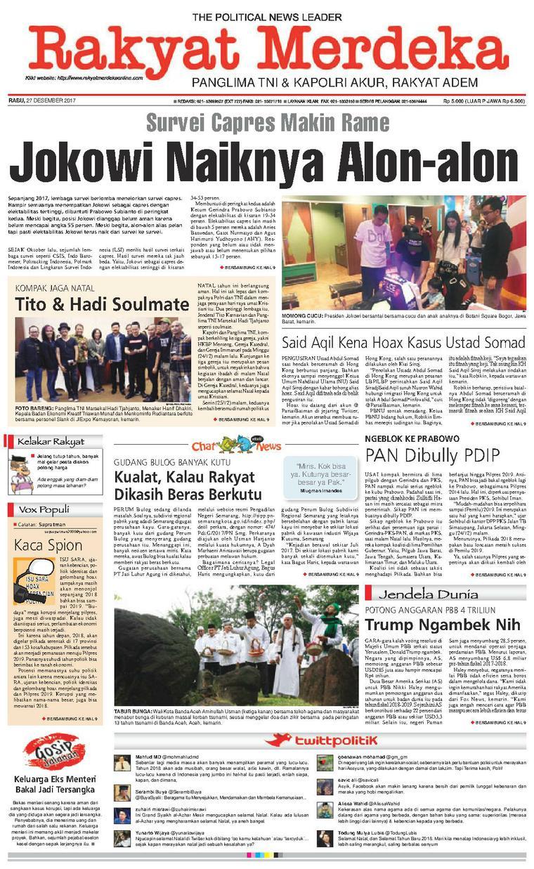 Koran Digital Rakyat Merdeka 27 Desember 2017