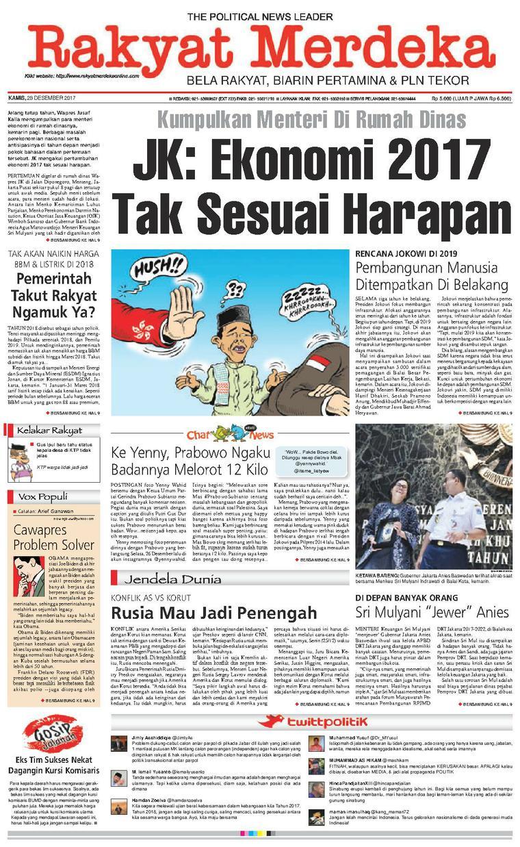 Koran Digital Rakyat Merdeka 28 Desember 2017