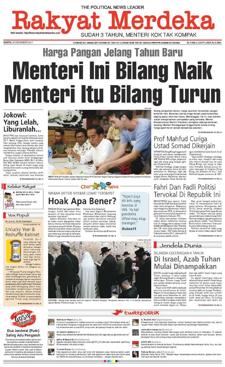 Koran Digital Rakyat Merdeka 30 Desember 2017