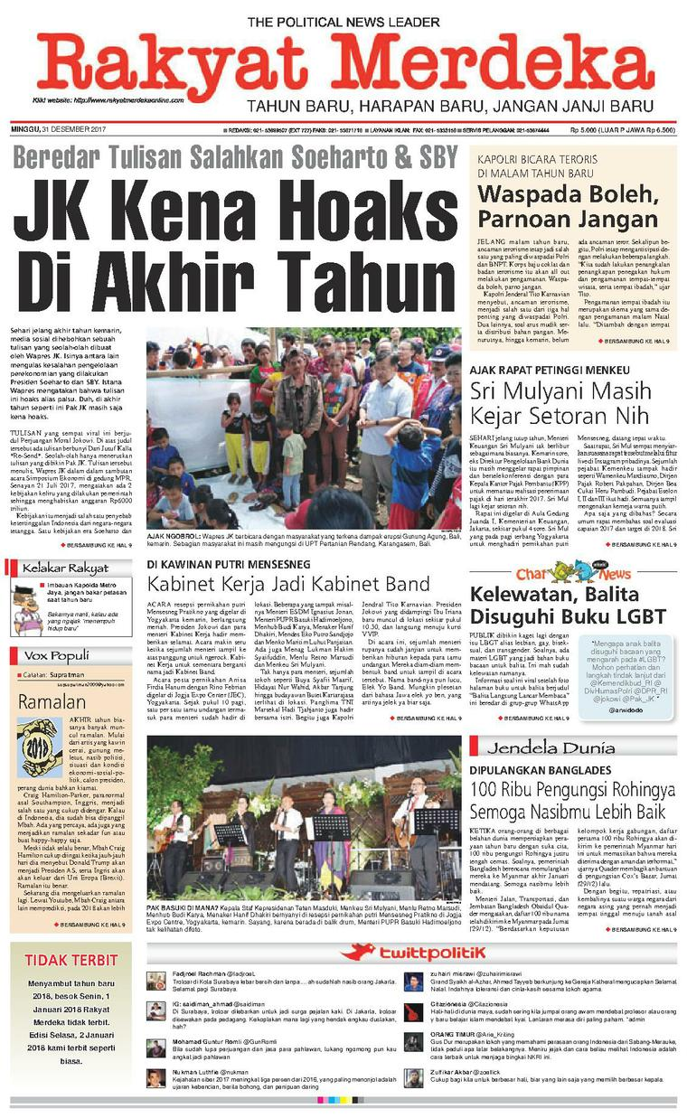 Koran Digital Rakyat Merdeka 31 Desember 2017