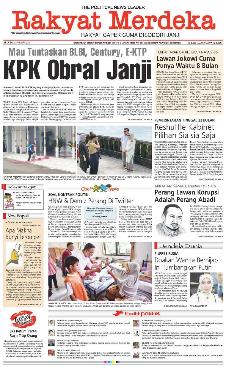 Koran Digital Rakyat Merdeka 02 Januari 2018