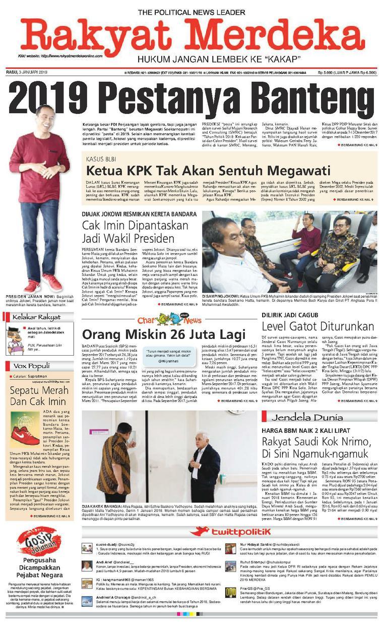 Koran Digital Rakyat Merdeka 03 Januari 2018