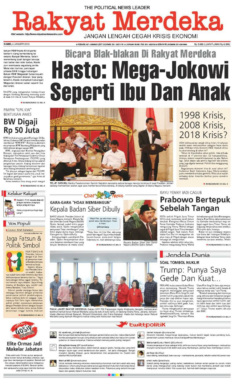 Koran Digital Rakyat Merdeka 04 Januari 2018