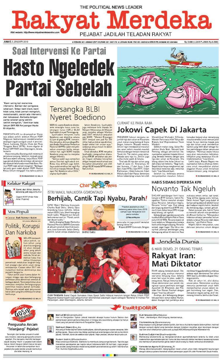 Koran Digital Rakyat Merdeka 05 Januari 2018