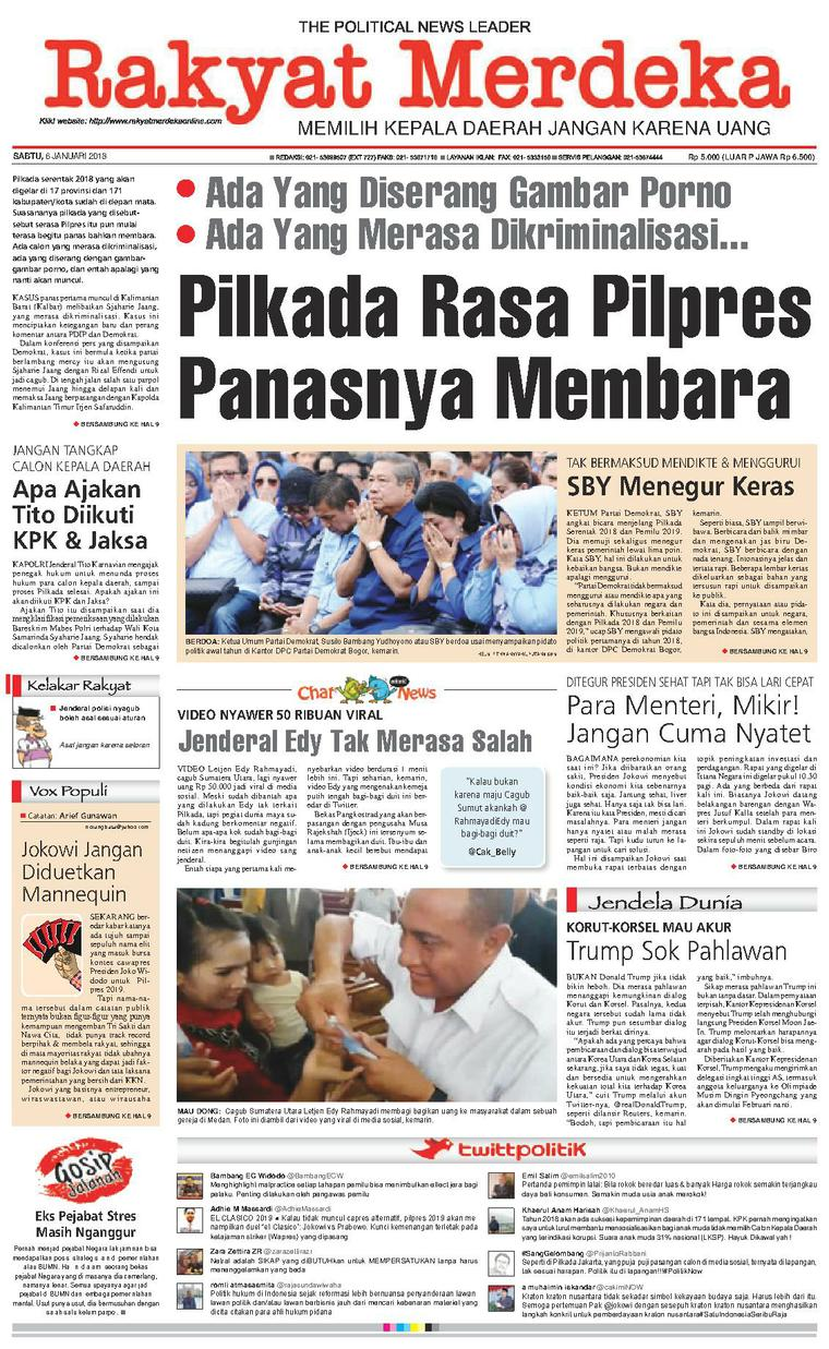 Koran Digital Rakyat Merdeka 06 Januari 2018