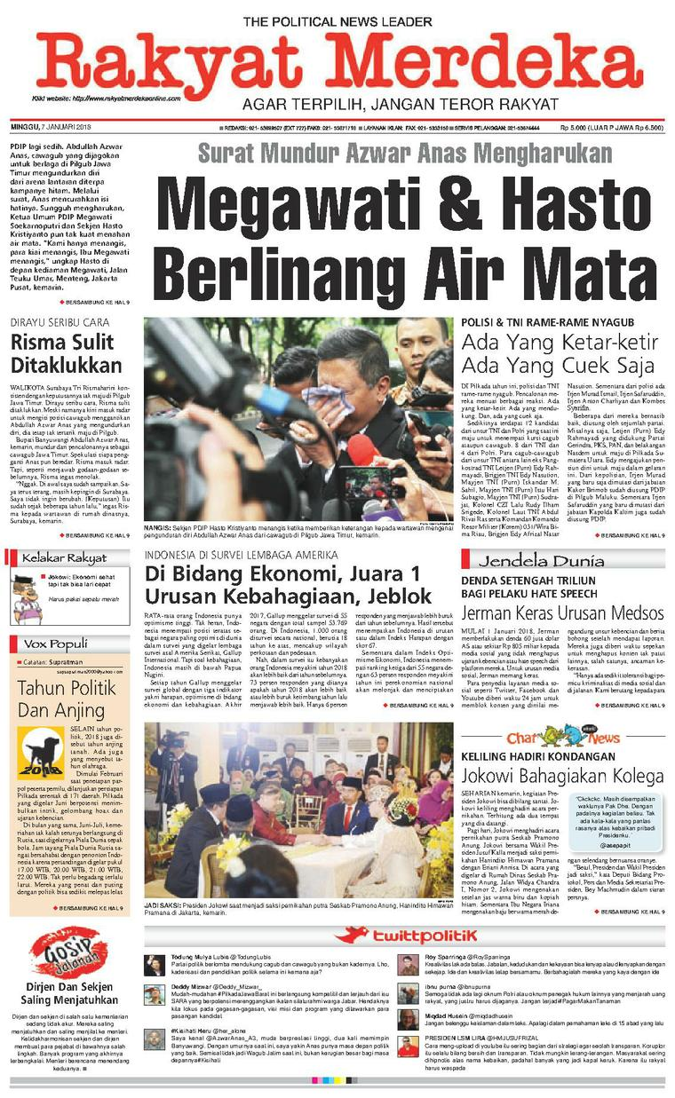 Koran Digital Rakyat Merdeka 07 Januari 2018