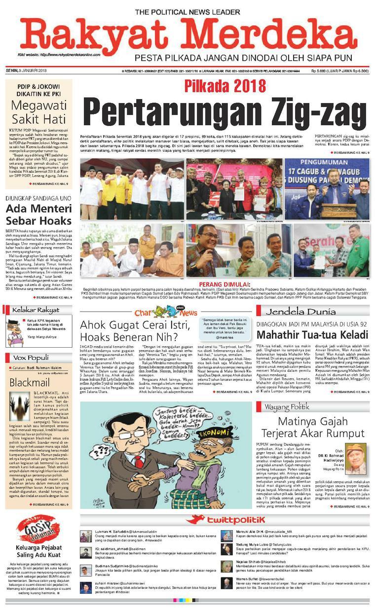 Koran Digital Rakyat Merdeka 08 Januari 2018