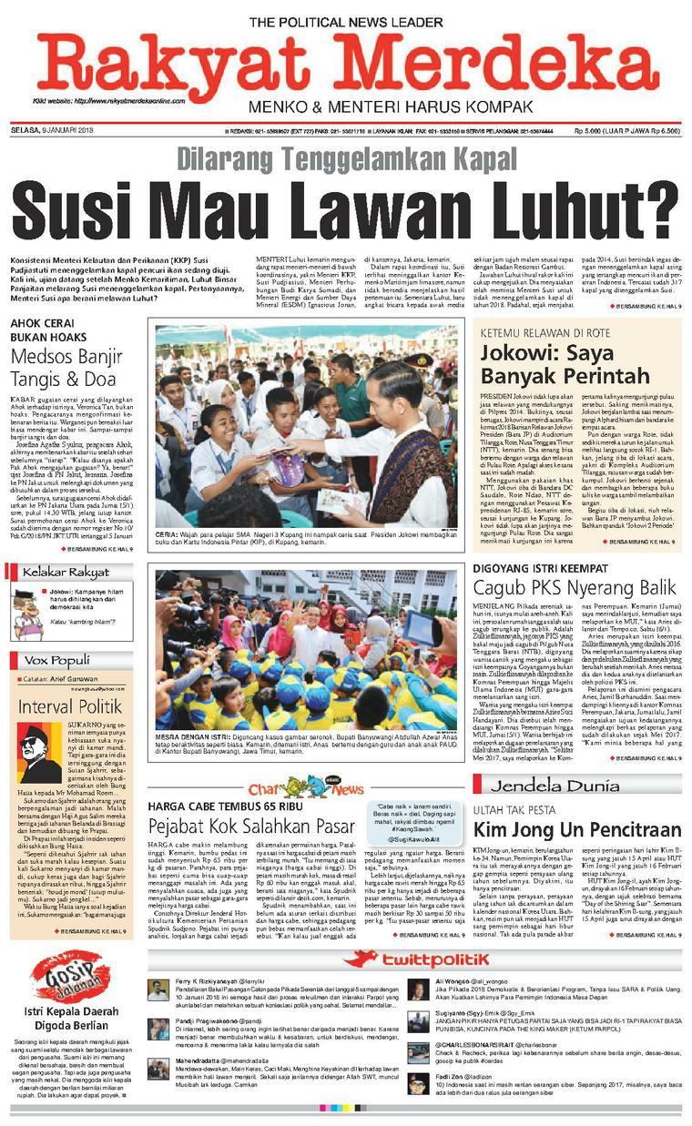Koran Digital Rakyat Merdeka 09 Januari 2018