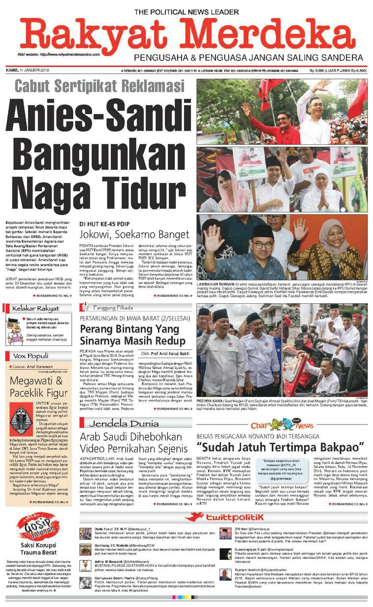 Koran Digital Rakyat Merdeka 11 Januari 2018