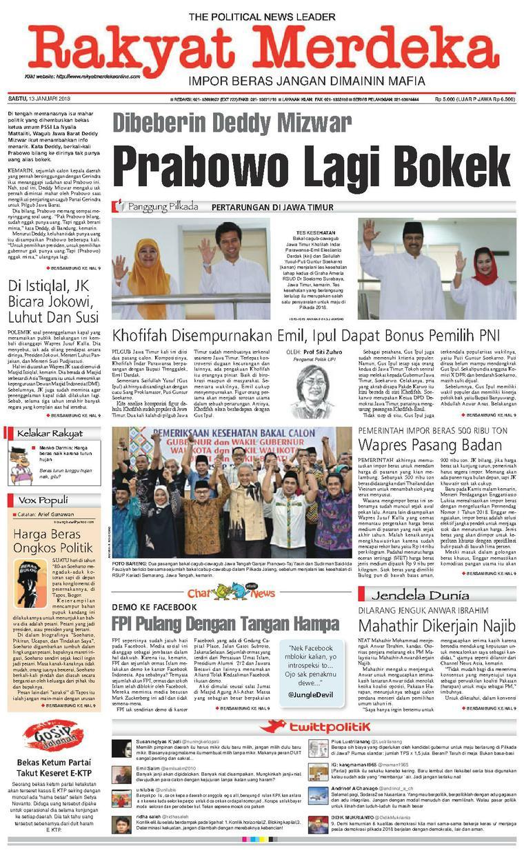 Koran Digital Rakyat Merdeka 13 Januari 2018