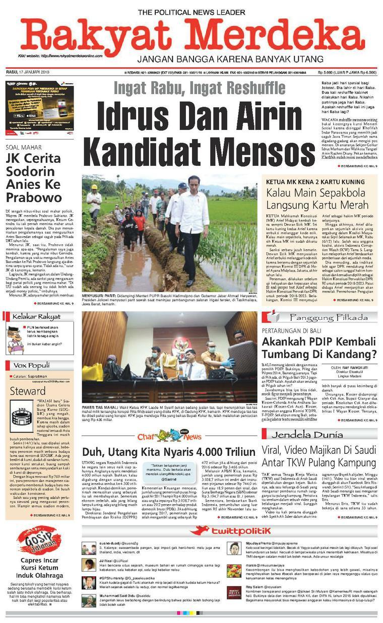 Koran Digital Rakyat Merdeka 17 Januari 2018