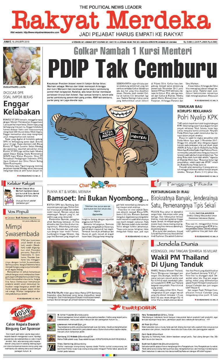 Koran Digital Rakyat Merdeka 19 Januari 2018
