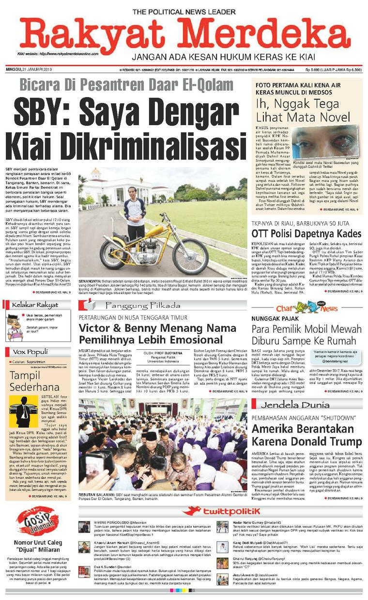Koran Digital Rakyat Merdeka 21 Januari 2018
