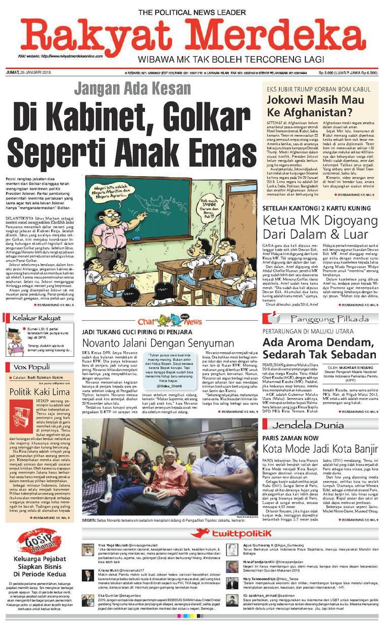 Koran Digital Rakyat Merdeka 26 Januari 2018
