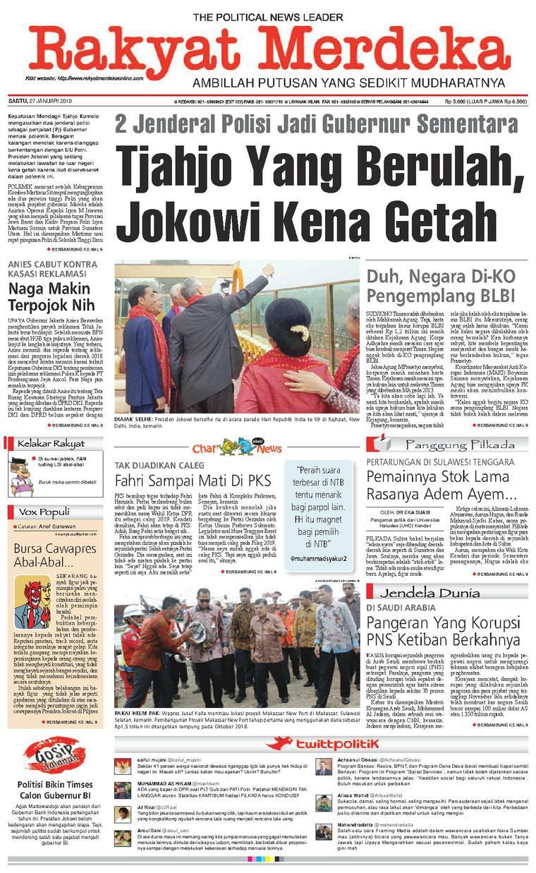Koran Digital Rakyat Merdeka 27 Januari 2018