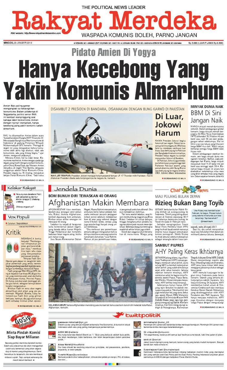 Koran Digital Rakyat Merdeka 28 Januari 2018