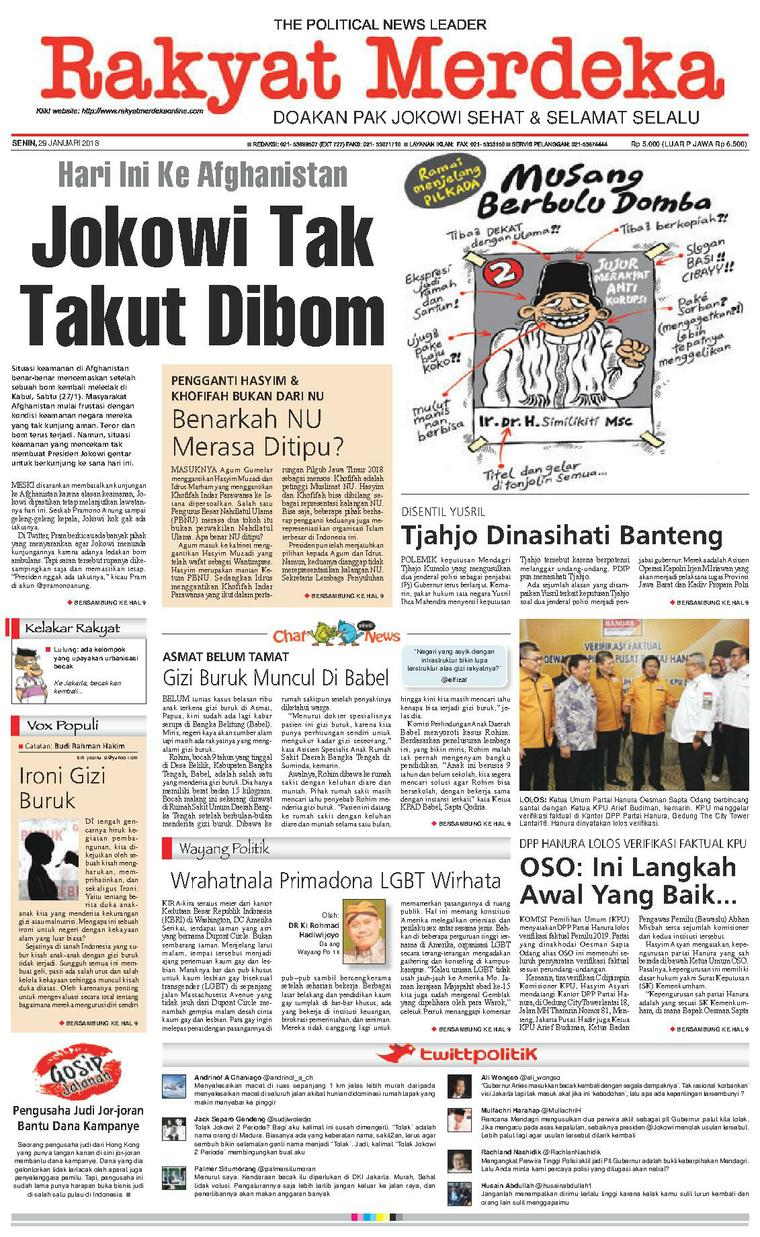 Koran Digital Rakyat Merdeka 29 Januari 2018
