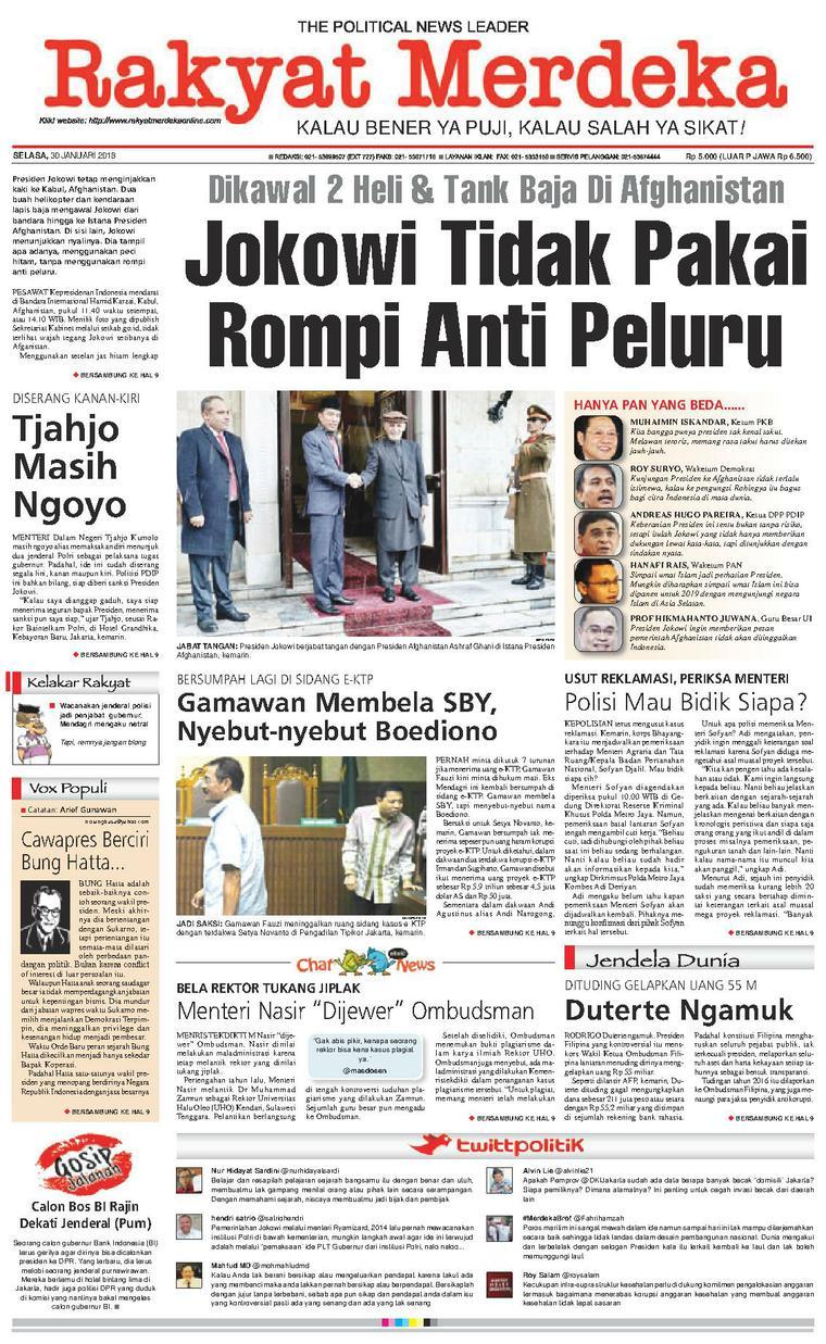 Koran Digital Rakyat Merdeka 30 Januari 2018
