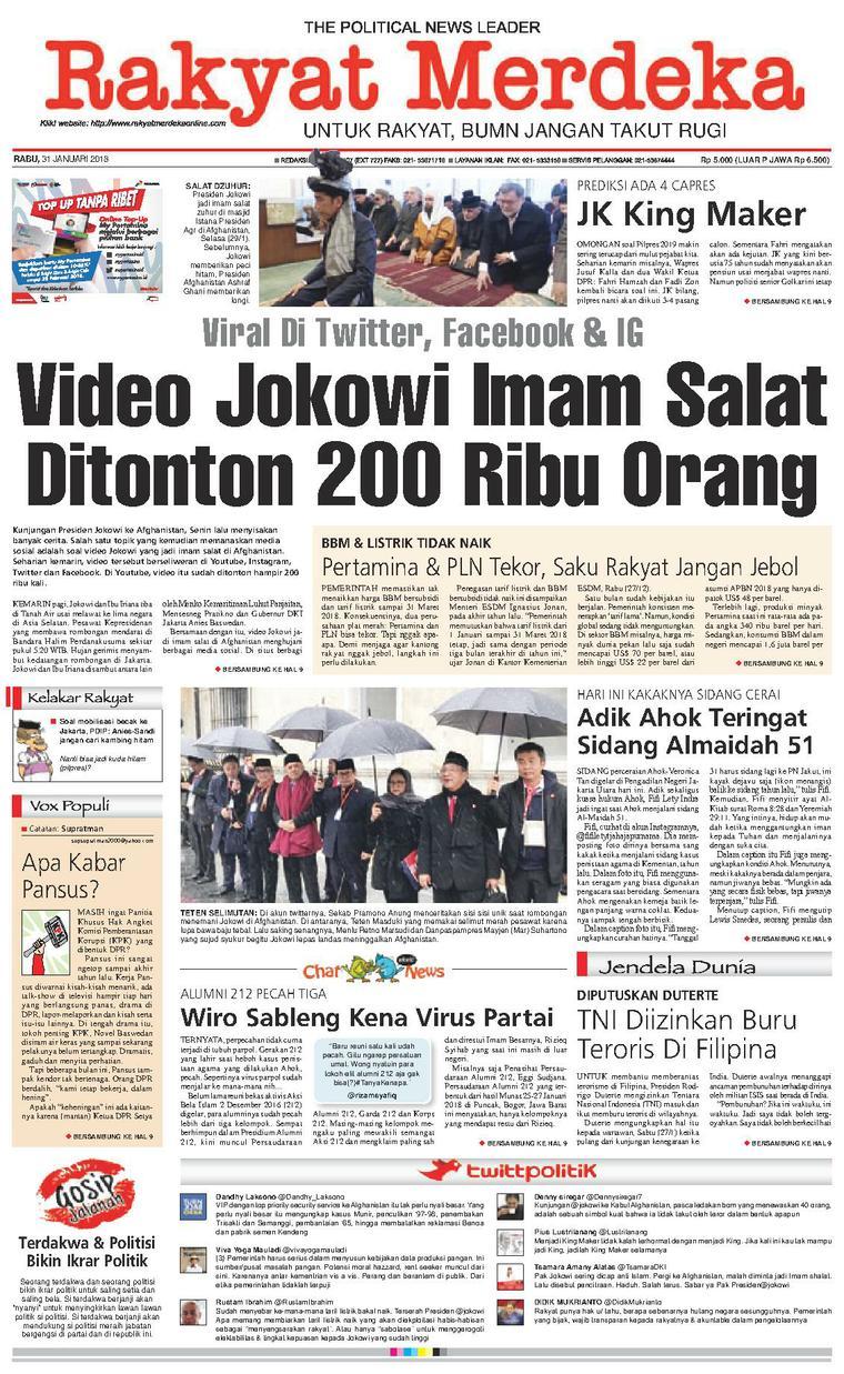 Koran Digital Rakyat Merdeka 31 Januari 2018
