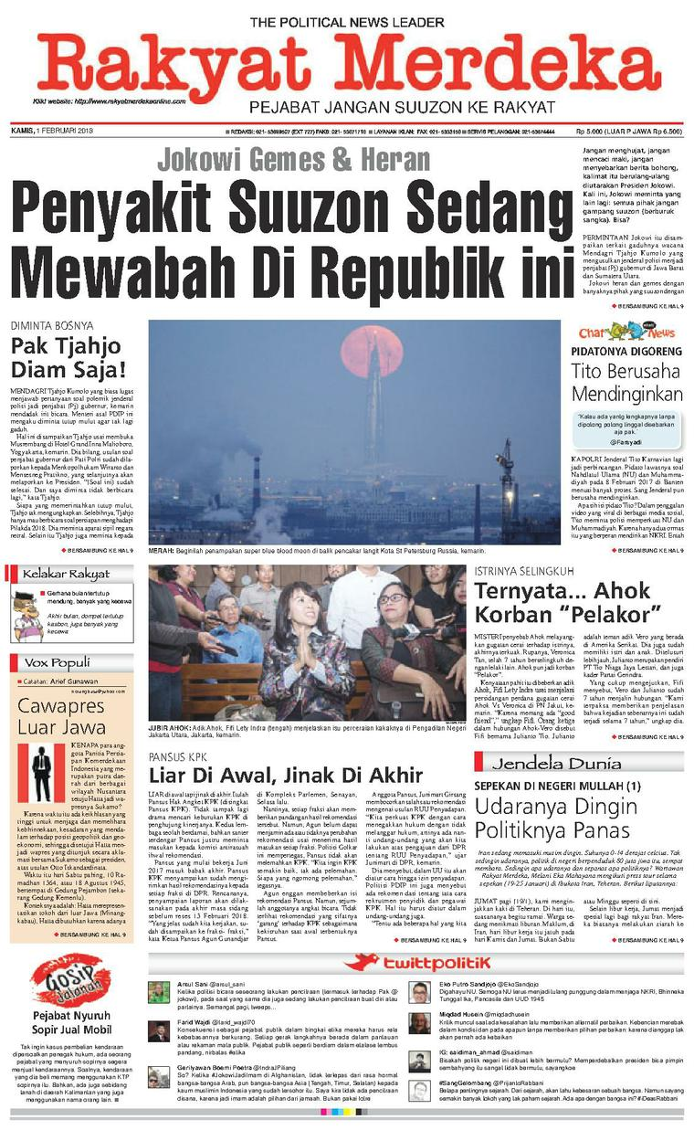Koran Digital Rakyat Merdeka 01 Februari 2018