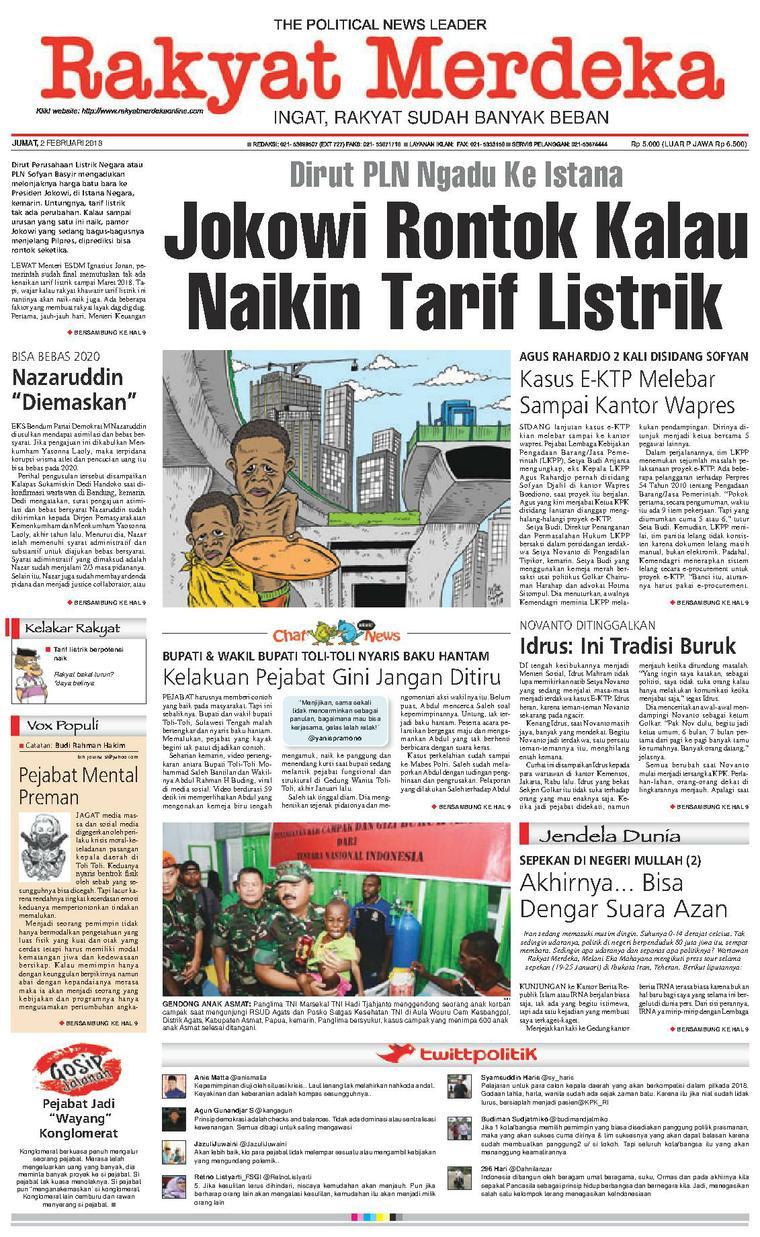 Koran Digital Rakyat Merdeka 02 Februari 2018