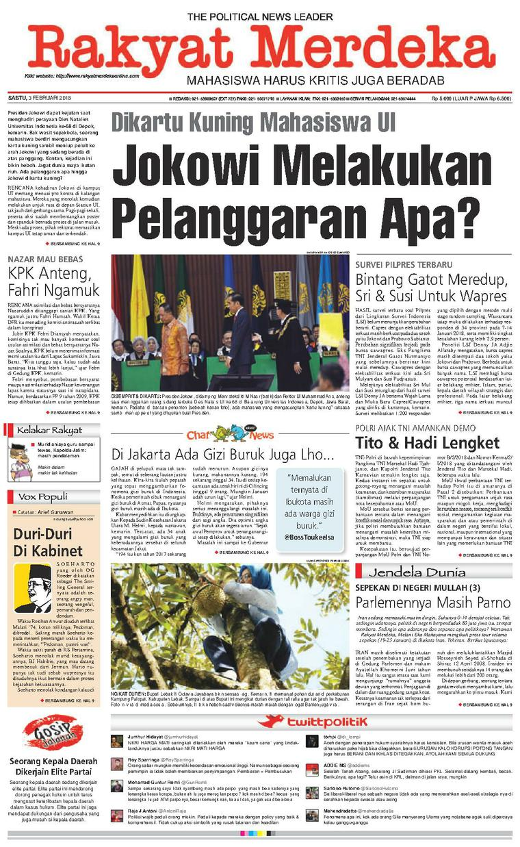 Koran Digital Rakyat Merdeka 03 Februari 2018