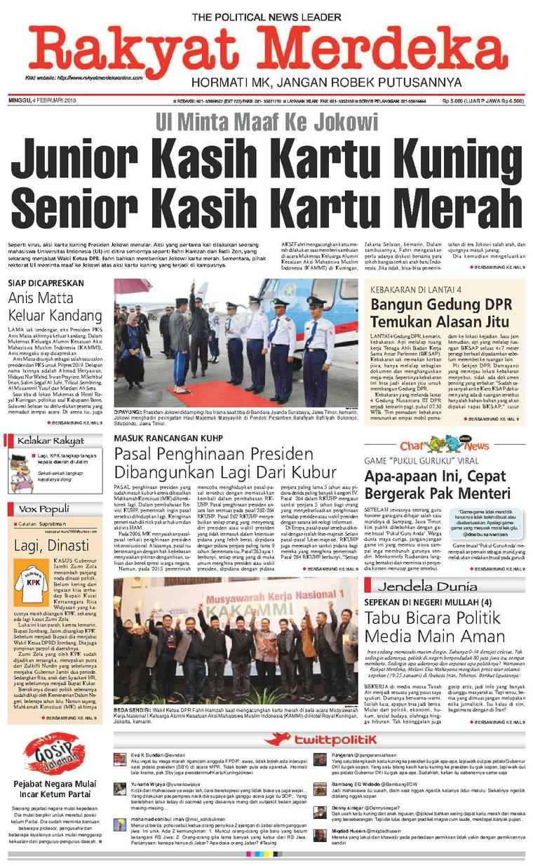 Koran Digital Rakyat Merdeka 04 Februari 2018