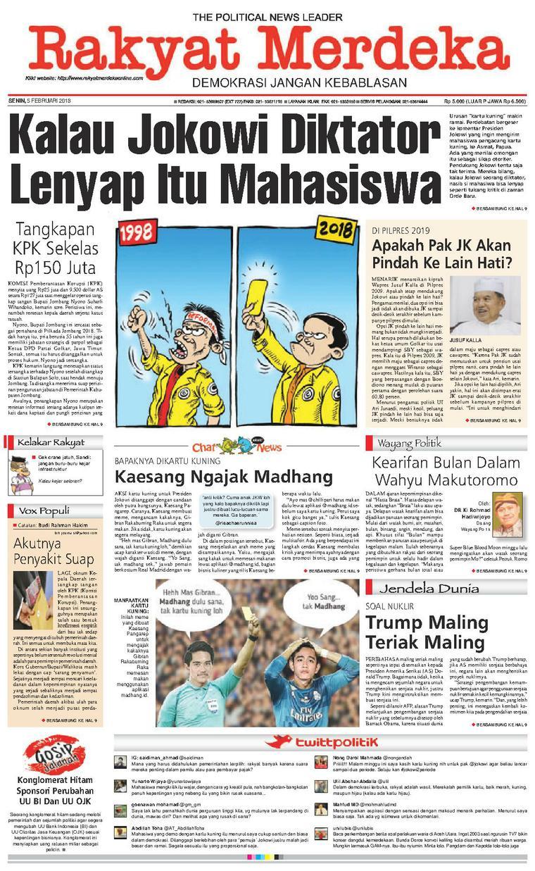Koran Digital Rakyat Merdeka 05 Februari 2018