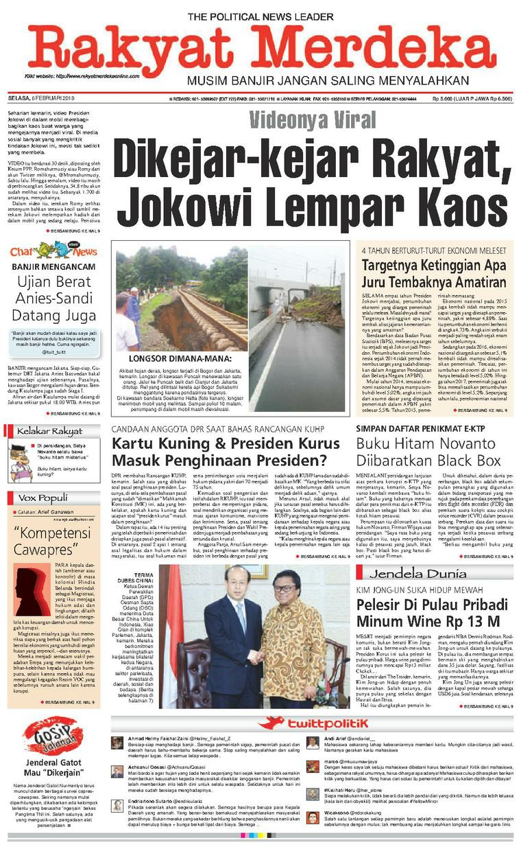 Rakyat Merdeka Digital Newspaper 06 February 2018