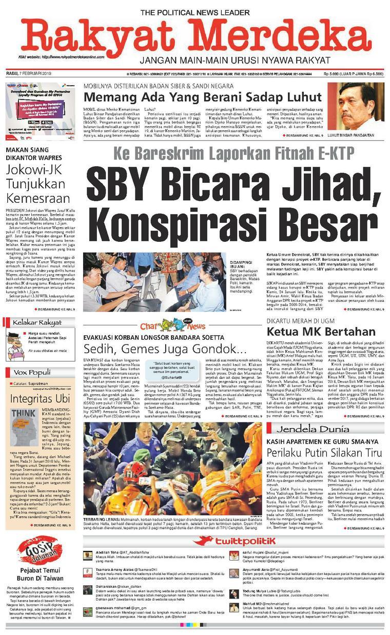 Koran Digital Rakyat Merdeka 07 Februari 2018