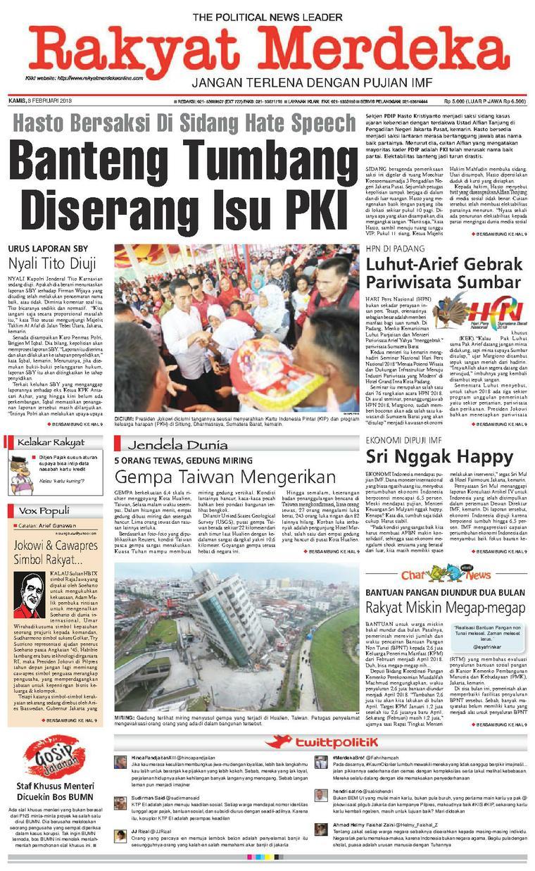 Koran Digital Rakyat Merdeka 08 Februari 2018