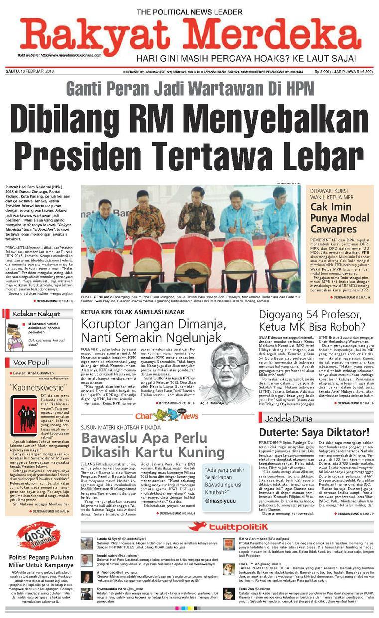 Koran Digital Rakyat Merdeka 10 Februari 2018