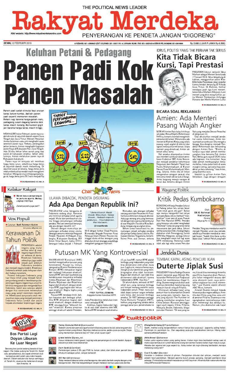 Koran Digital Rakyat Merdeka 12 Februari 2018
