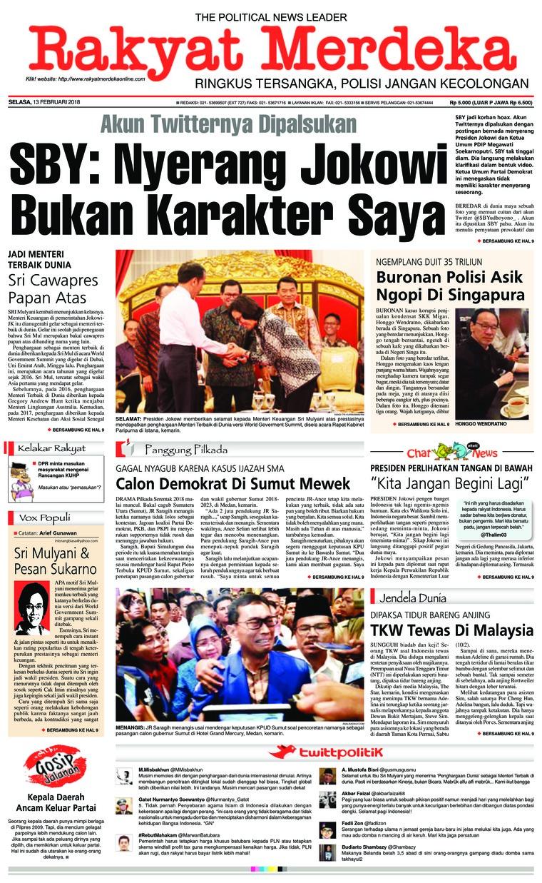 Koran Digital Rakyat Merdeka 13 Februari 2018