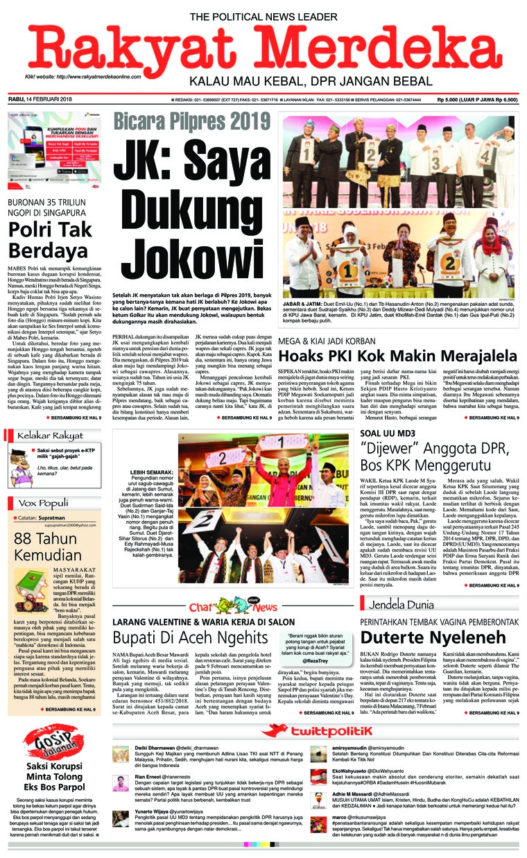 Koran Digital Rakyat Merdeka 14 Februari 2018