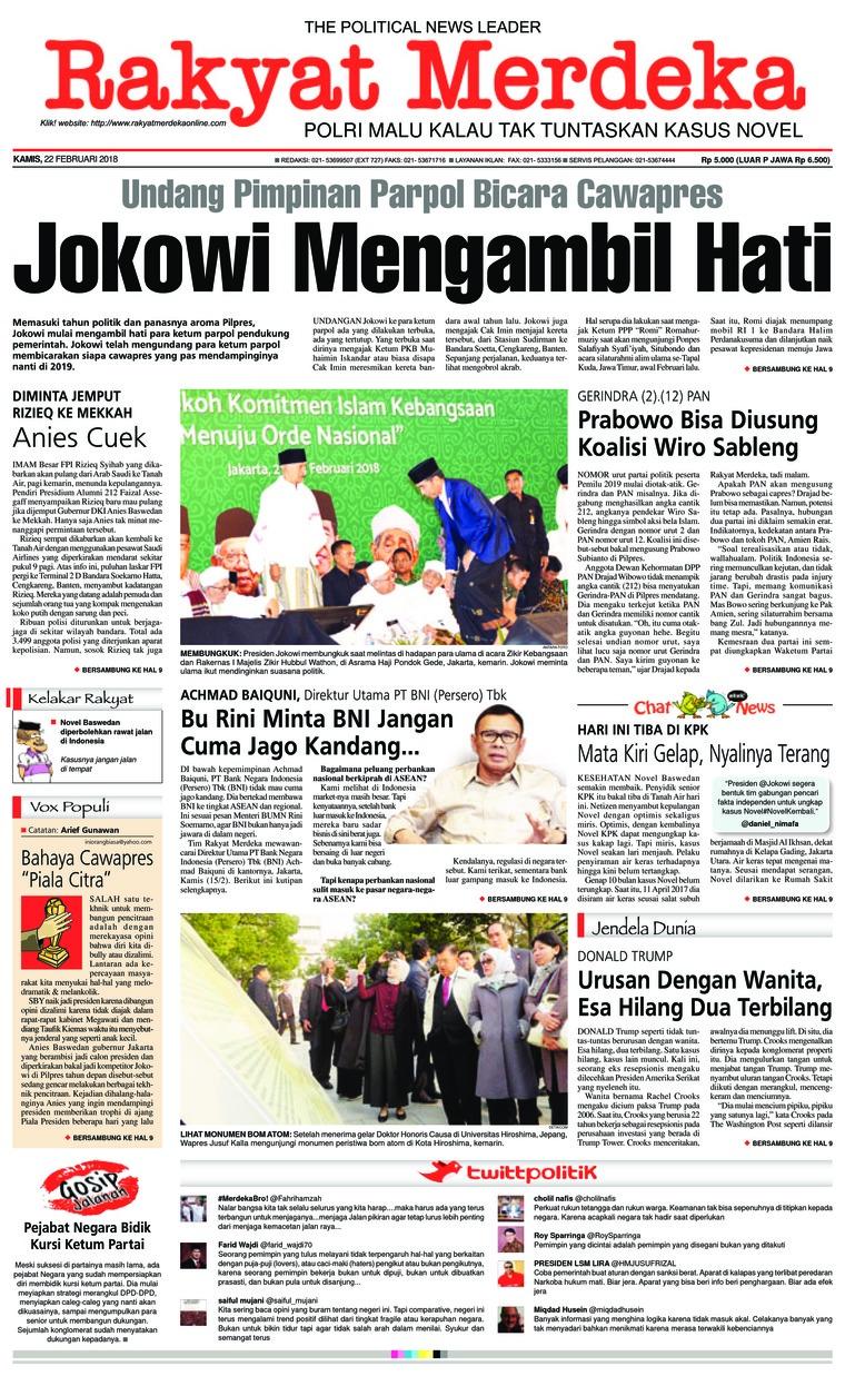 Koran Digital Rakyat Merdeka 22 Februari 2018