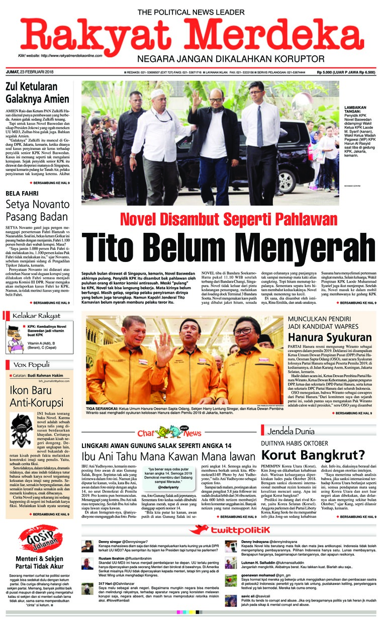 Koran Digital Rakyat Merdeka 23 Februari 2018