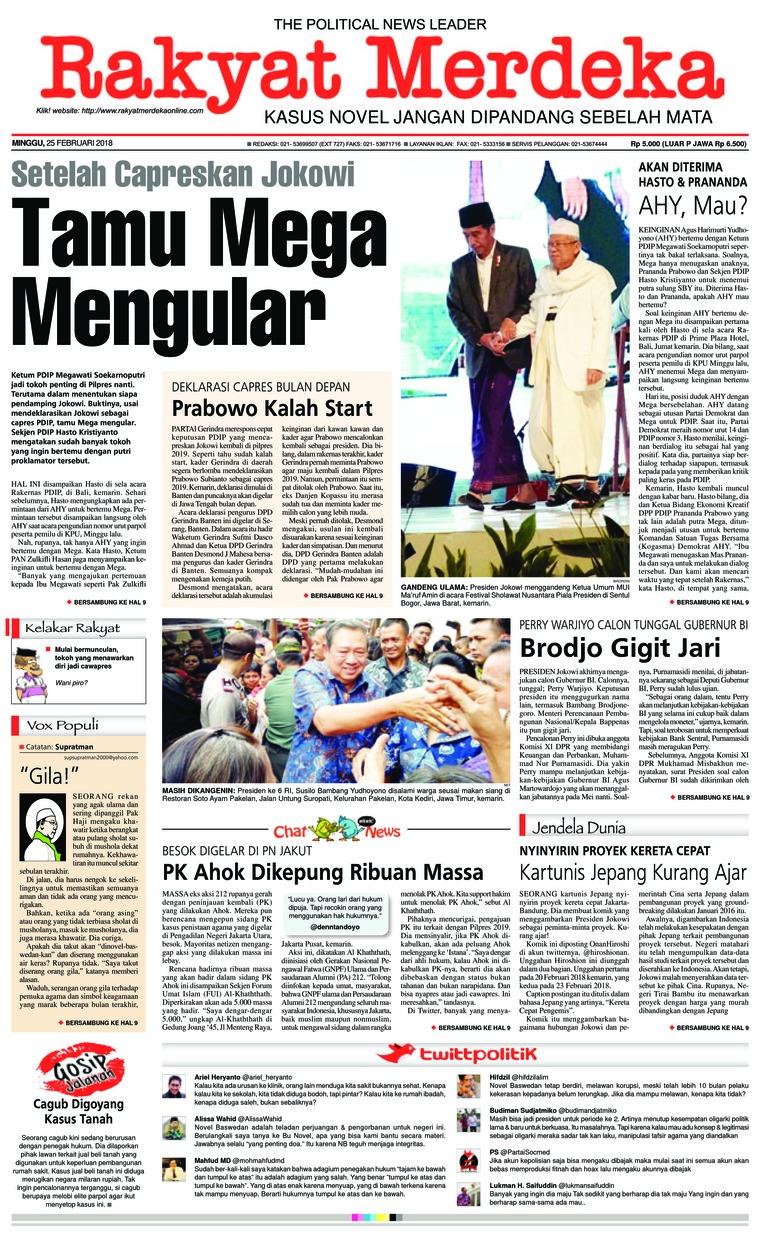 Koran Digital Rakyat Merdeka 25 Februari 2018