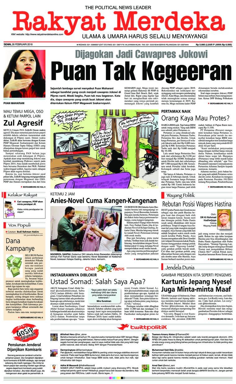 Koran Digital Rakyat Merdeka 26 Februari 2018