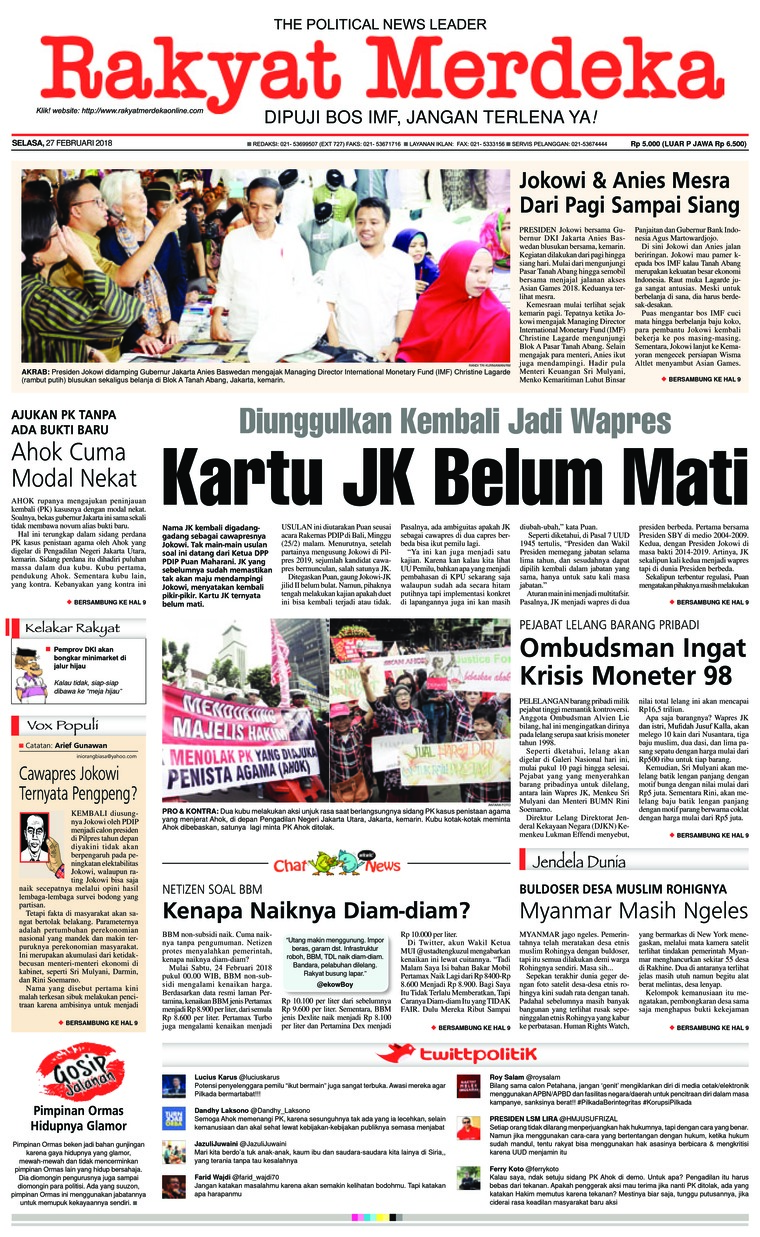 Koran Digital Rakyat Merdeka 27 Februari 2018